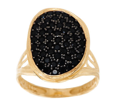 """As Is"" Adi Paz 1.00 cttw Black Spinel Freeform Design Ring, 14K Gold"