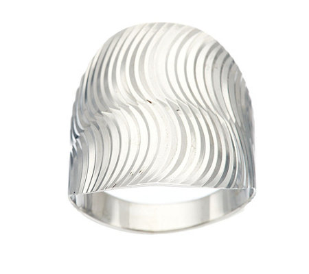 """As Is"" 14K Gold Polished & Textured Swirl Design Ring"