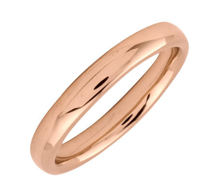 Simply Stacks Sterling 18K Rose Gold-Plated 3.25mm Ring