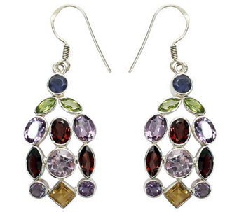"Novica Artisan Crafted Sterling ""Color Curtain""Gem Earrings - J307542"