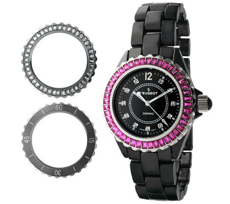 Peugeot Women's Swiss Interchangeable Bezel Set Watch