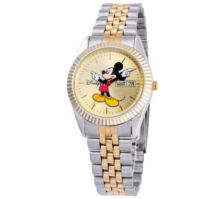 Disney Men's Mickey Two-Tone Watch