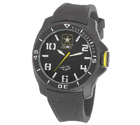 Wrist Armor Men's U.S. Army C25 Black & White Watch