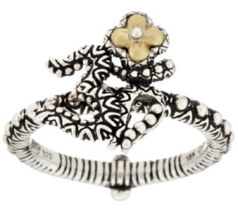 Barbara Bixby Sterling & 18K Yellow Gold Om Ring - J318242