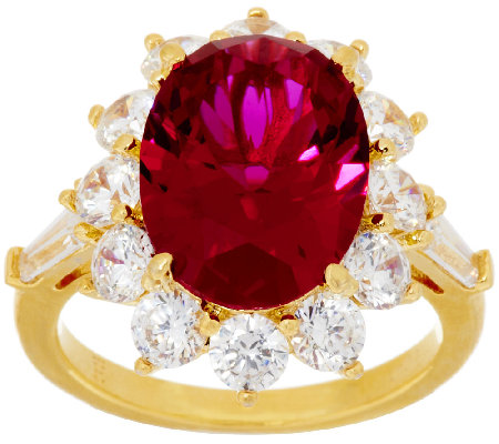 "The Elizabeth Taylor 5.05cttw ""The Perfect"" Simulated Ruby Ring"