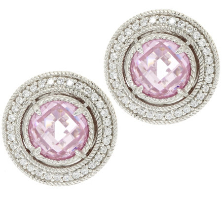 Judith Ripka Sterling Diamonique 5.65 ct tw Stud Earrings