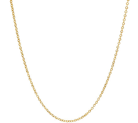 "VicenzaGold 18"" Oval Rolo Link Chain, 18K Gold"
