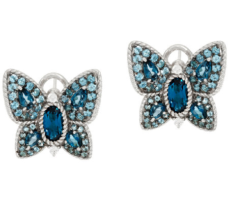 Judith Ripka 4.75 cttw Gemstone Butterfly Earrings