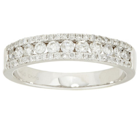 """As Is"" Channel Set Diamond Band Ring, 14K by Affinity"