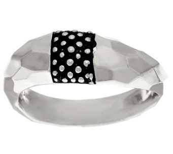 """As Is"" Michael Dawkins Sterling Hammered & Texture Ring - J329842"