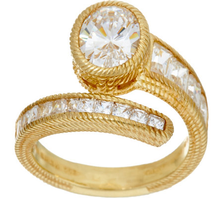 Judith Ripka Sterling & 14K Clad 3.65 cttw Diamonique Ring