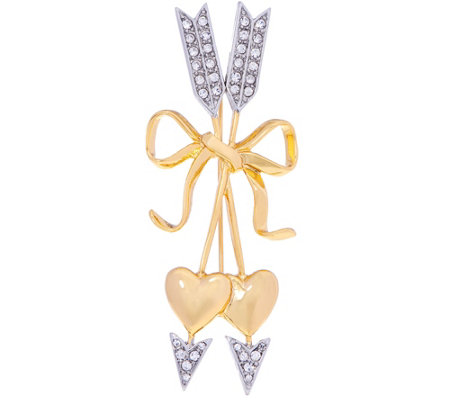 """As Is"" Joan Rivers Pave' Hearts and Arrows Brooch"