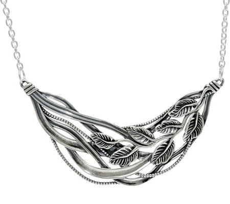 Or Paz Sterling Silver Polished Multi-Leaf Necklace