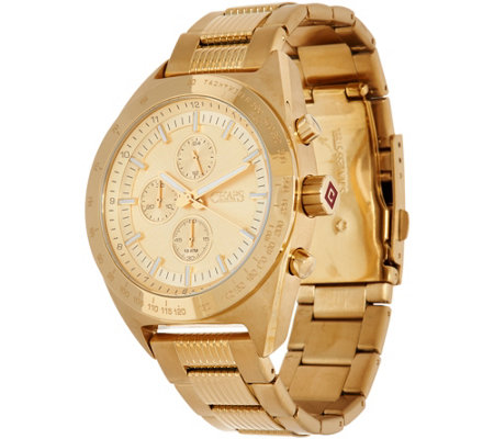 Chaps Men's Goldtone Steel Chronograph Watch - Rockton