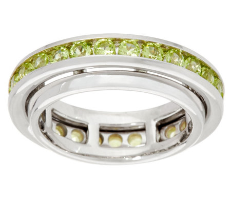 """As Is"" Gemstone Sterling Silver Spinner Ring 1.20 cttw"