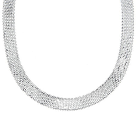 "Imperial Silver 18"" Ultra Lame' Necklace, Sterling Silver 64.4g"
