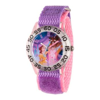 Disney Beauty and the Beast Girls' Purple Plastic Watch