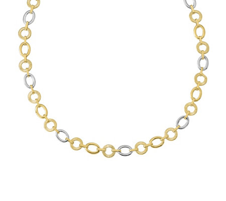 "Italian Gold 18"" Round & Oval Link Necklace 14K, 10.9g"