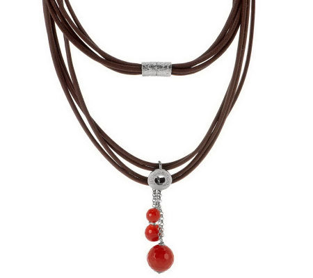 """As Is"" Ippocampo Sterling Gemstone Bead Bead Necklace"