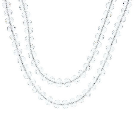 "Linea by Louis Dell'Olio Faceted Bead 72"" Necklace"