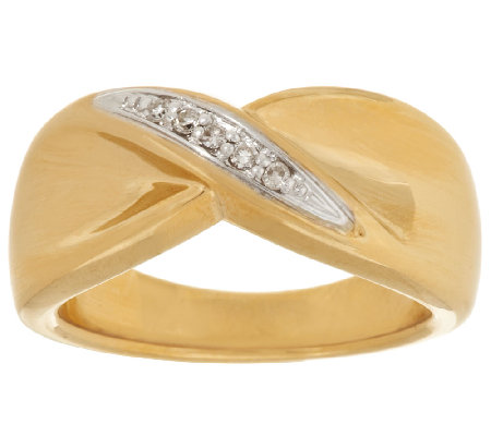 14K Gold Polished Bow Design Diamond Accent Ring