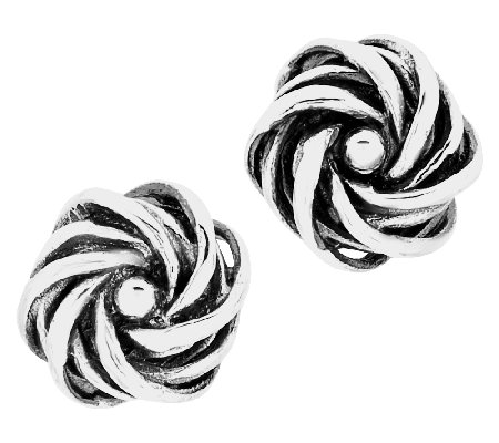Regina Lane Sterling Classic Knot Button Earrings