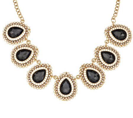 susan graver black teardrop necklace page 1