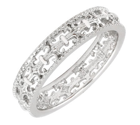 Simply Stacks Sterling Polished Fleur-de-Lis Ring