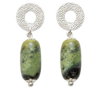 Novica Artisan Crafted Sterling Serpentine Dangle Earrings - J299243