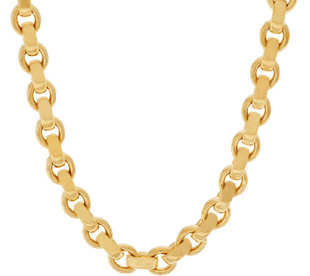 "Oro Nuovo 18"" Oval Rolo Link Necklace with Magnet, 14K"
