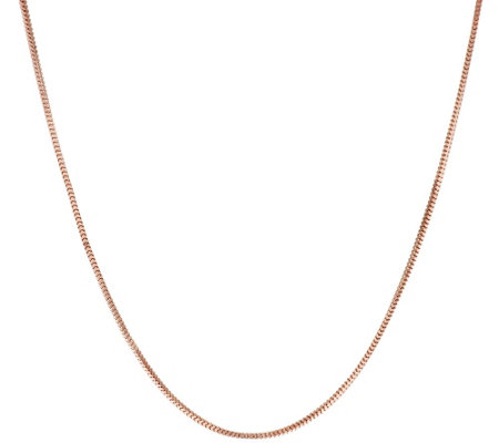"Vicenza Silver Sterling 24"" Etruscan Square Snake Chain Necklace, 2.8g"