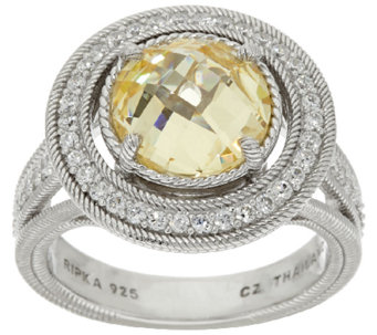 Judith Ripka Sterling Diamonique 8.25 ct tw Ring - J320143