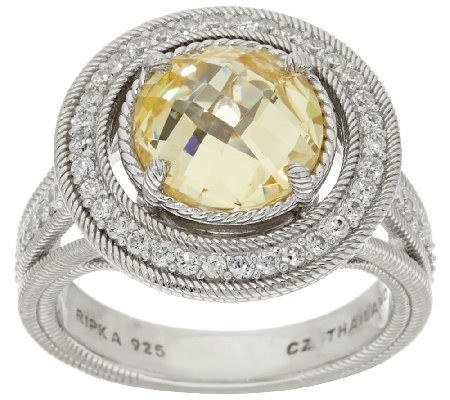 Judith Ripka Sterling Diamonique 8.25 ct tw Ring