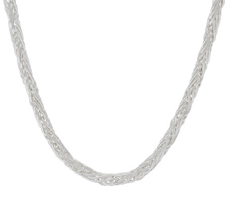 "Sterling Silver 20"" Wheat Necklace__by Silver Style"
