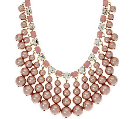Isaac Mizrahi Live! Simulated Pearl Drop Necklace