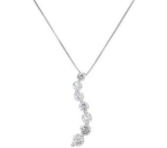 Round Diamond Journey Drop Pendant, 14K, 9/10 cttw, by Affinity - J331543