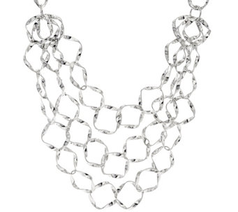 Linea by Louis Dell'Olio 3 Row Ribbon Necklace - J331643