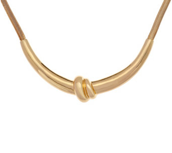 H by Halston Snake Chain Knot Necklace - J331843