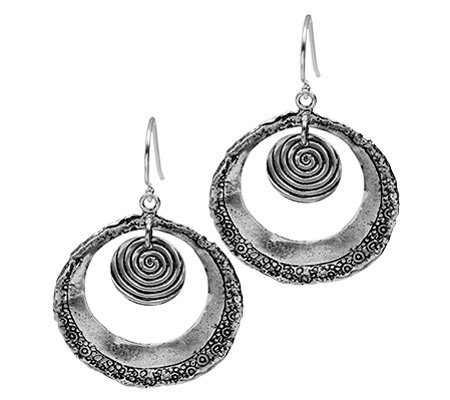Or Paz Sterling Open Circle Dangle Earrings