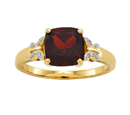 Cushion-Cut Gemstone w/ Butterfly Accent Ring,14K Yellow Gold