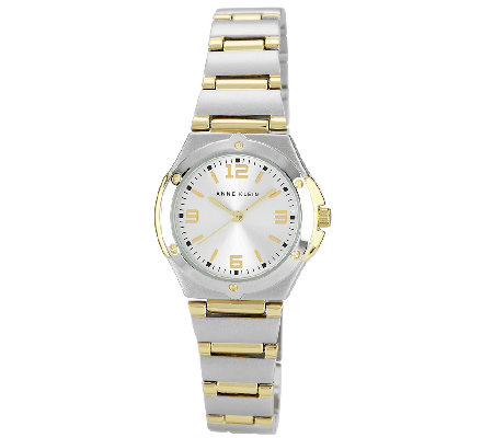 Anne Klein Women's Two-Tone Round Dress Watch
