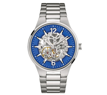 Caravelle New York Men's Automatic Watch, BlueTranparent Dial - J344443