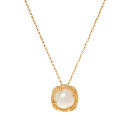 "Peter Thomas Roth 18K Gold and Mabe Pearl 18"" Necklace"
