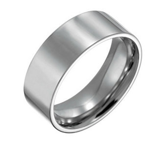 Forza Men's 8mm Steel Flat Polished Ring - J109544
