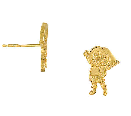 Dora the Explorer Sterling Silver 14K Clad StudEarrings