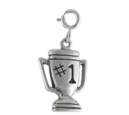 Sterling #1 Trophy Charm