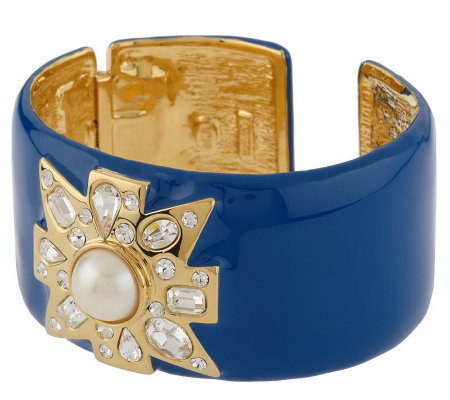 Kenneth Jay Lane's Valletta Cuff Bracelet