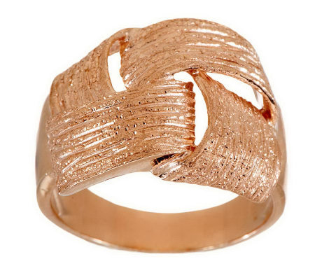 """As Is"" VicenzaSilver Sterling Textured Woven Wrapped Ring"