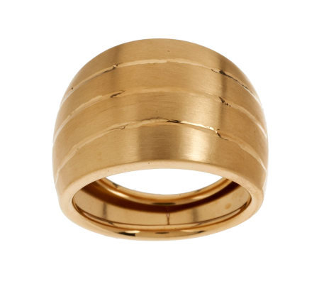 EternaGold Bold Domed Satin Finish Band Ring 14K Gold