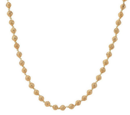 "Joan Rivers Classic Textured Bead 44"" Necklace"